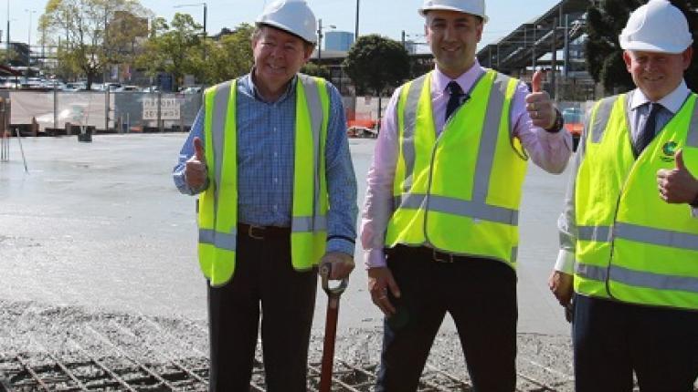 First concrete pour at Granville Centre site