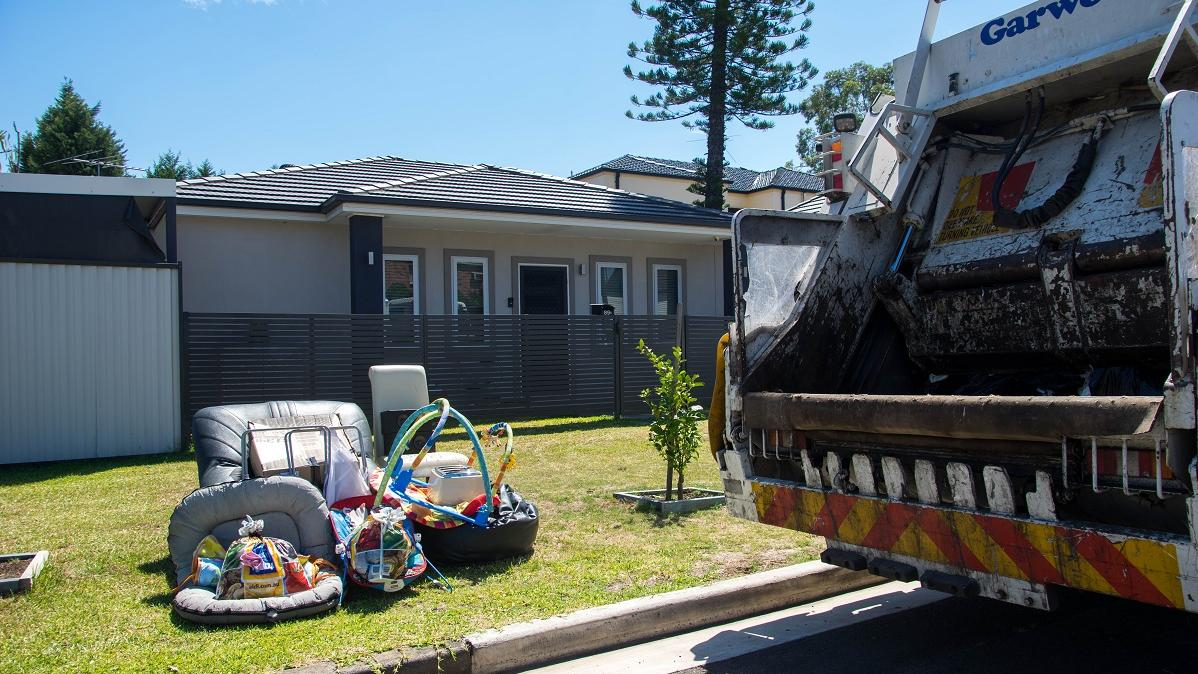 Cleanup items outside of home