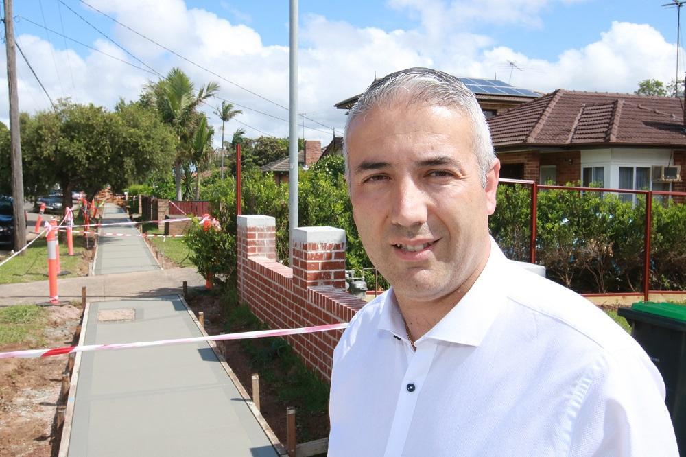 Mayor Steve Christou inspects Council works