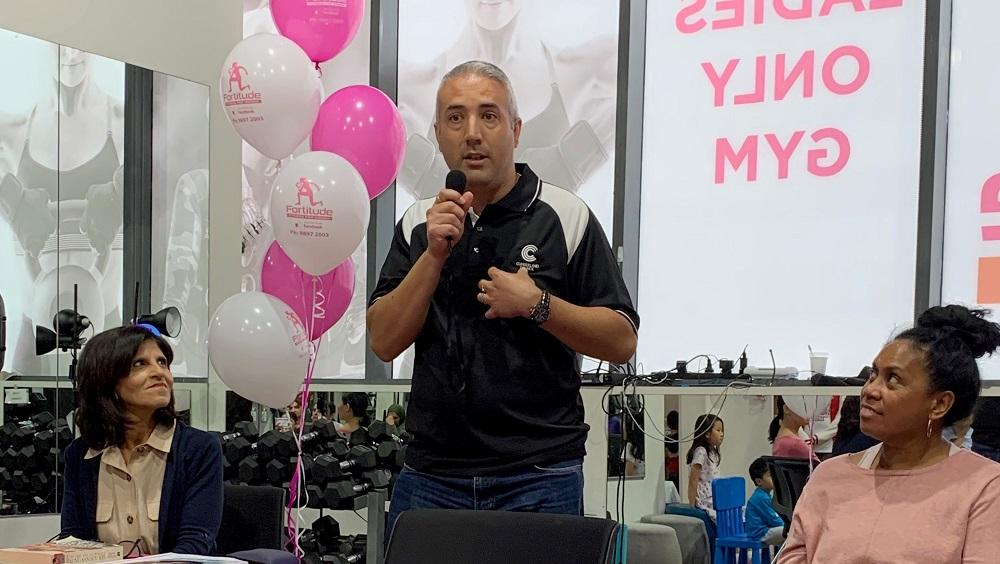 Mayor Steve Christou speaking at a recent Women's Day event