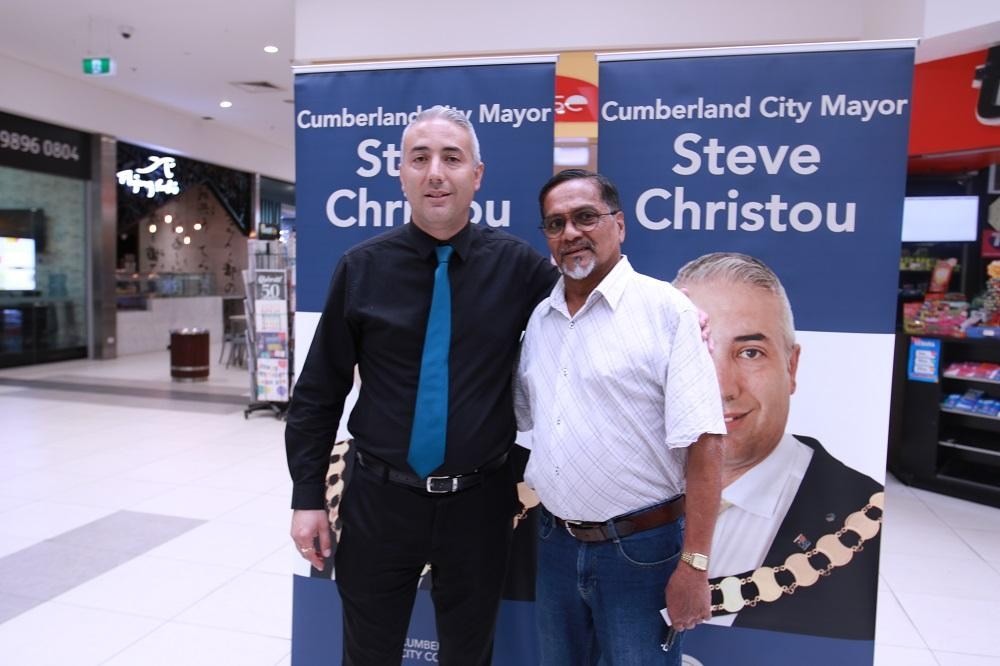 Mayor Steve Christou with local resident Ben at a recent Meet Your Mayor session