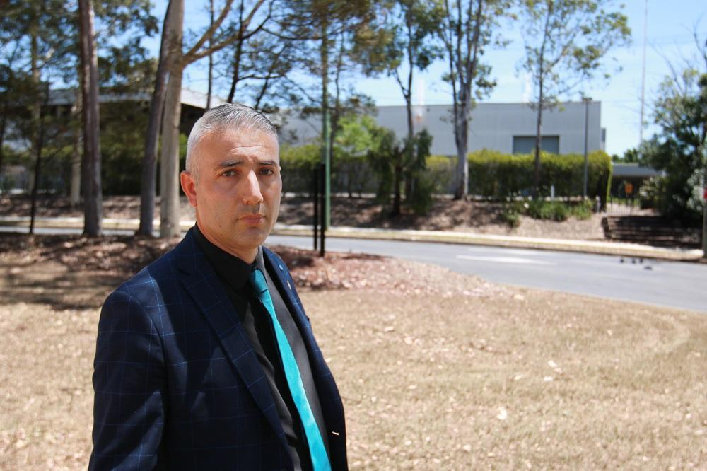 Mayor Steve Christou at the proposed site for a major development in Holroyd